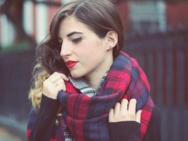 палантин как носить: в клетку завязывать как шарф