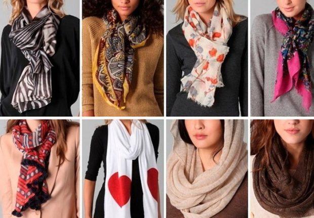 как носить палантин: атласные узлом вниз на голову как шарф со свободным краем