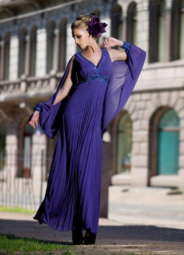 палантин с чем носить: под синее платье как вуаль на плечи