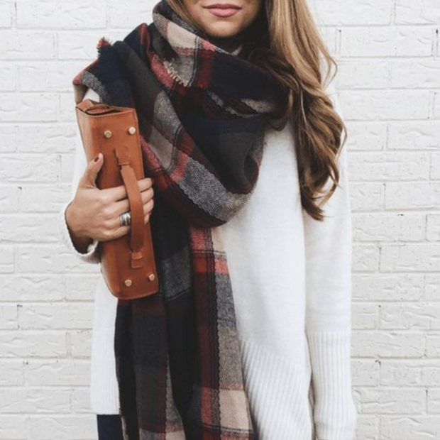 как носить палантин с пальто: наверх