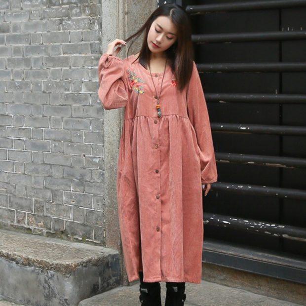 азиатский стиль розовой миди