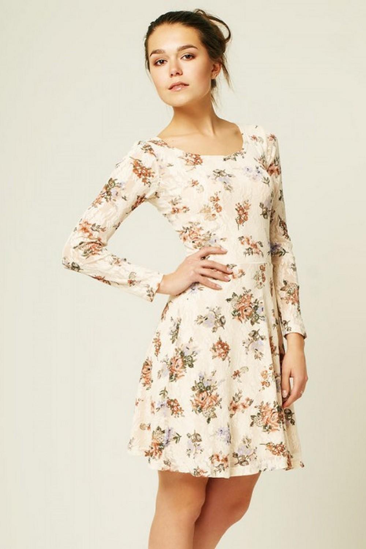 стильные платья 2018: легкое светлое в цветы