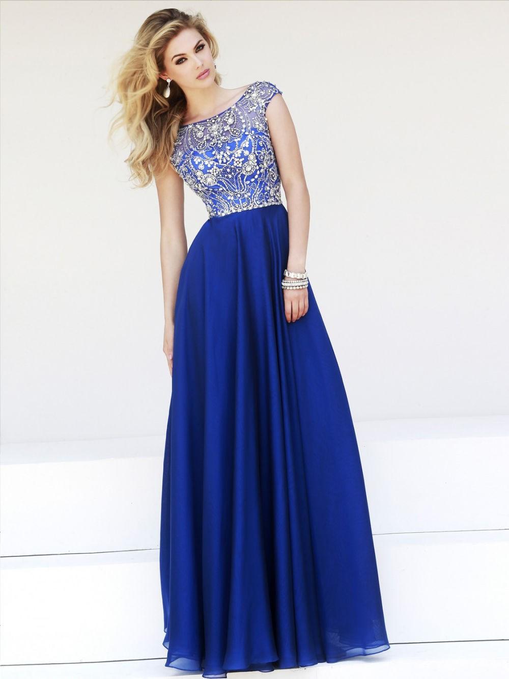 платья на выпускной 9 класс самые красивые:  синее платье в пол верх ажурный