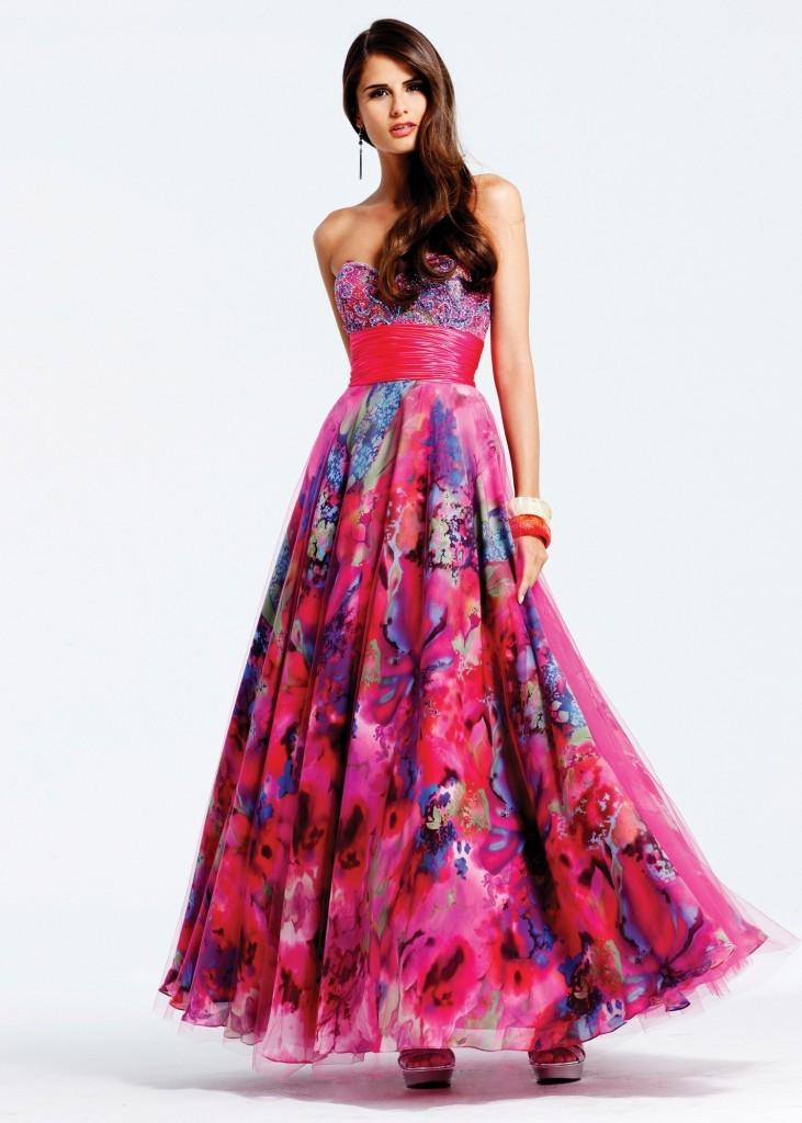 платья на выпускной 9 класс самые красивые: цветное платья в пол бюстье