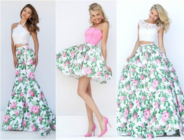 a147da3f1a3 платья на выпускной 9 класс самые красивые  юбка в пол в цветы миди в принт