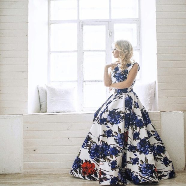 платья на выпускной 2018 2019 9 класс фото самые красивые: пышное в цветы