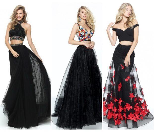 ed4f2e181d6 платья на выпускной 2018 2019 9 класс фото самые красивые  черное в пол