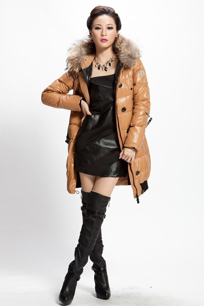 Пуховики с чем носить: средняя длинна под платье кожаное
