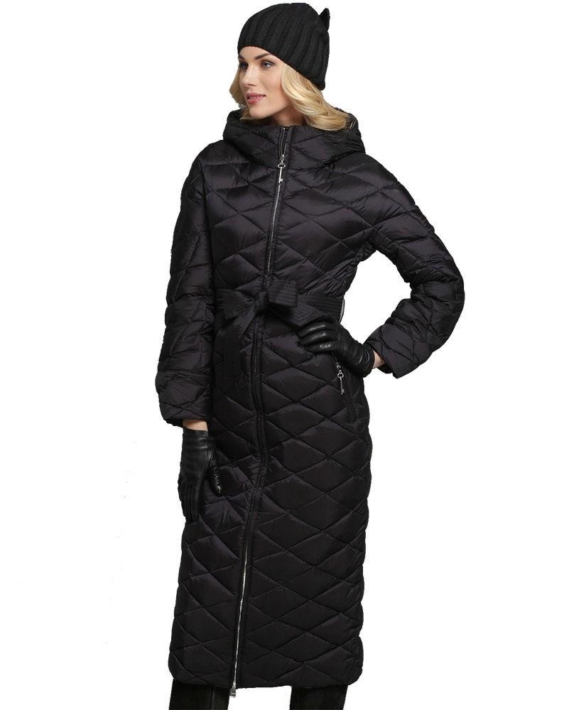 Пуховики с чем носить: длинный  черный под любую одежду