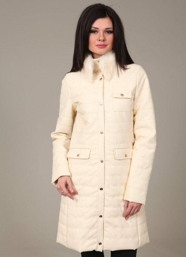 с чем носить пуховик: белый под любую одежду