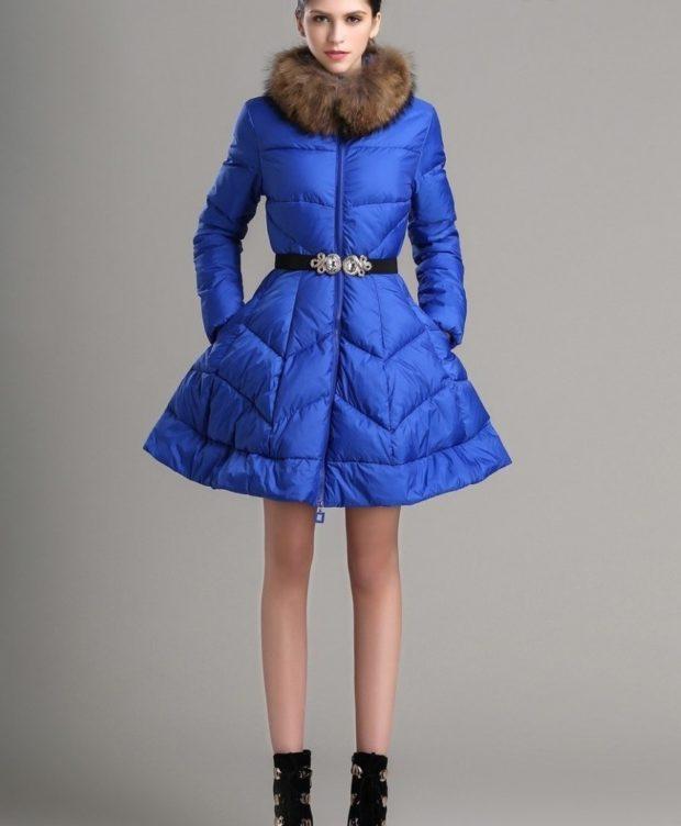 с чем носить пуховики до колена: пуховик-платье под юбку/платье