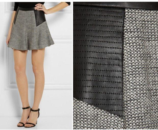 с чем носить серую юбку: коротка под босоножки