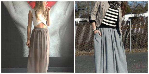 с чем носить серую юбку: длинная под топ курточку