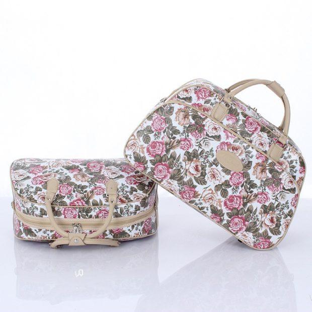 Спортивная сумка цветочным принтом