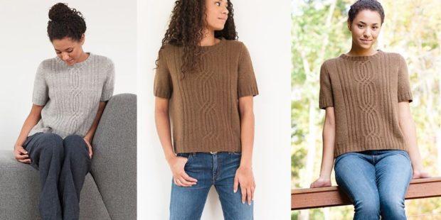 Модные женские свитера 2019-2020: вязаный серого и коричневого цвета