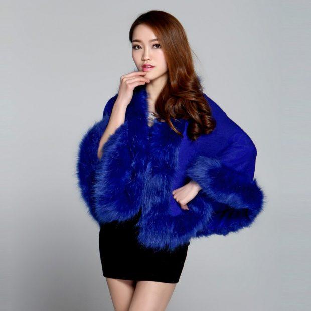женские свитера 2019-2020: синего цвета