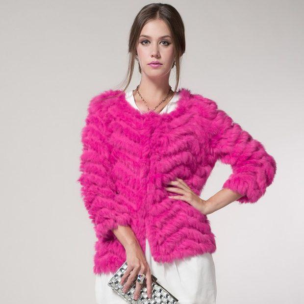 женские свитера 2019-2020: розового цвета