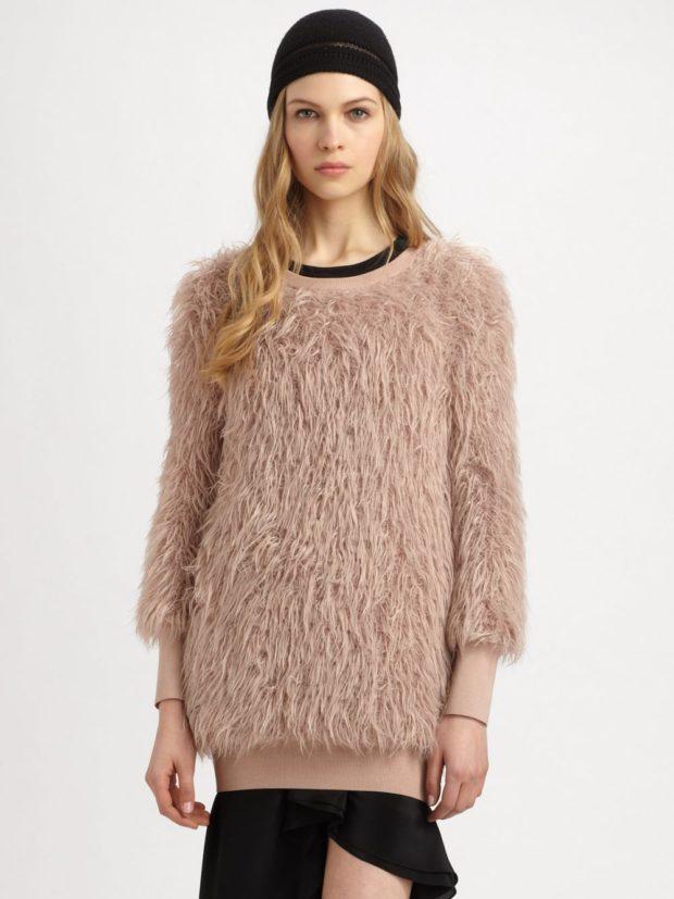 женские свитера 2019-2020: коричневого цвета