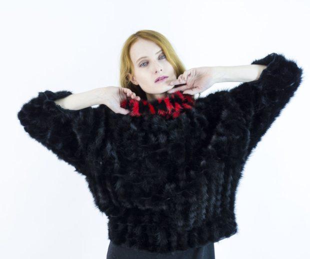 женские свитера 2019-2020: черного цвета