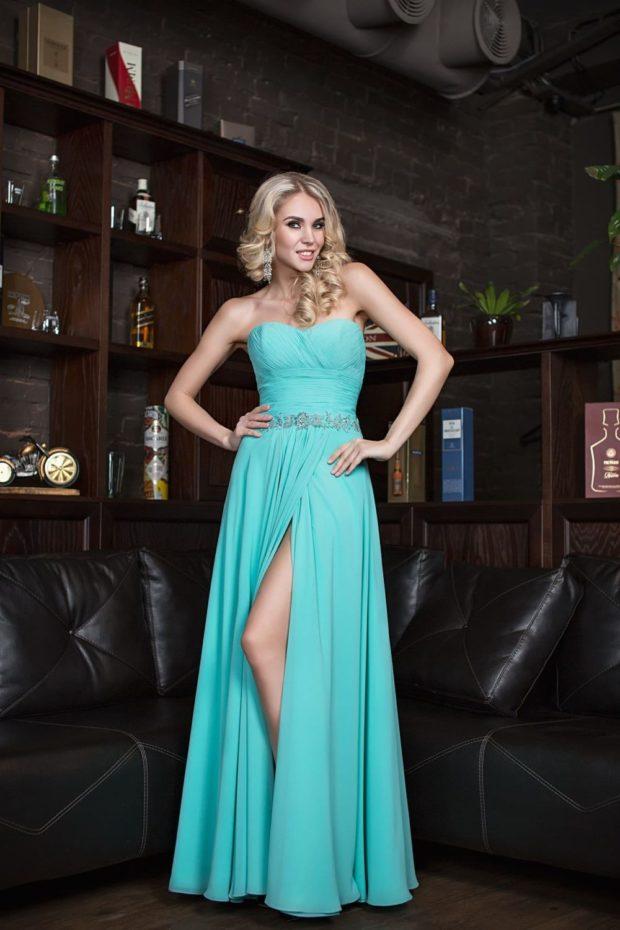 красивые платья на выпускной в пол: с разрезом бюстье с пояском