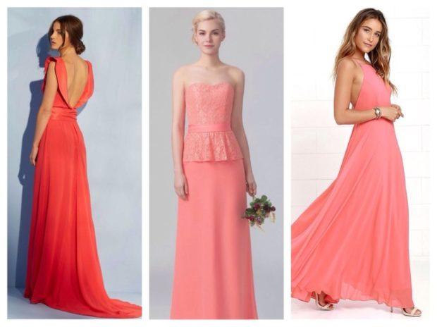 Вечерние платья 2019 короткие на выпускной:с открытым верхом,персикового цвета