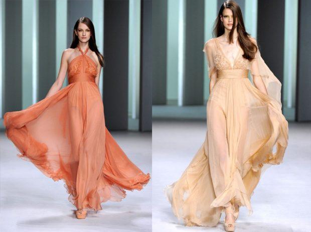Вечерние платья 2019 фото новинки короткие на выпускной: платье в пол,оранжевого и золотистого цвета