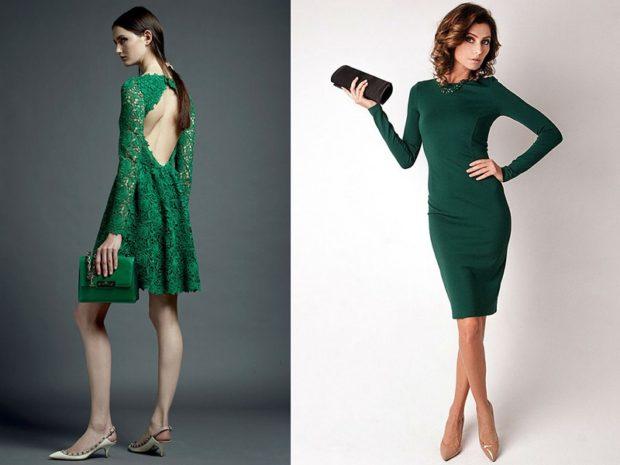 Вечерние платья 2019 фото новинки короткие на выпускной: платье ,зеленого цвета