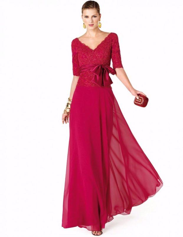 Вечерние платья 2019 короткие на выпускной: с открытым верхом красное