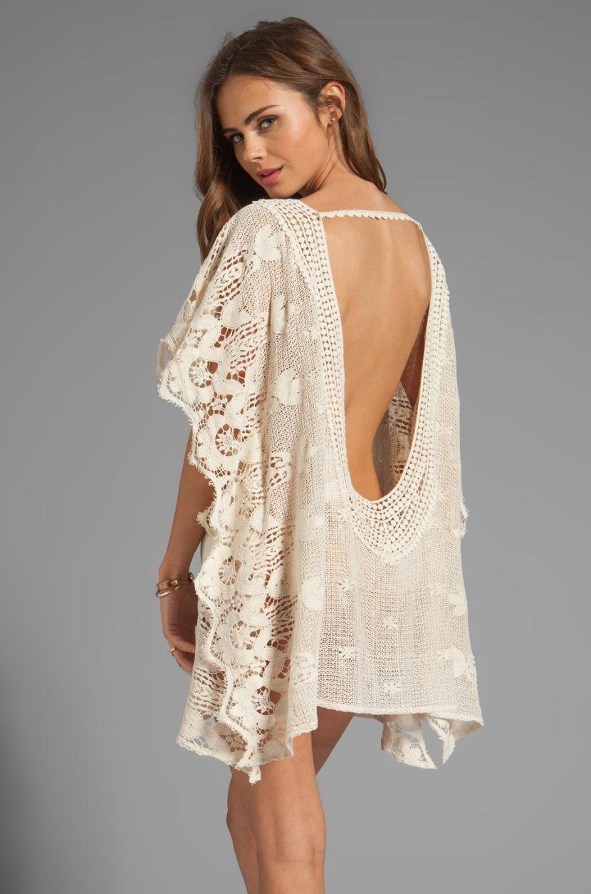 платье вязанное крючком открытая спина