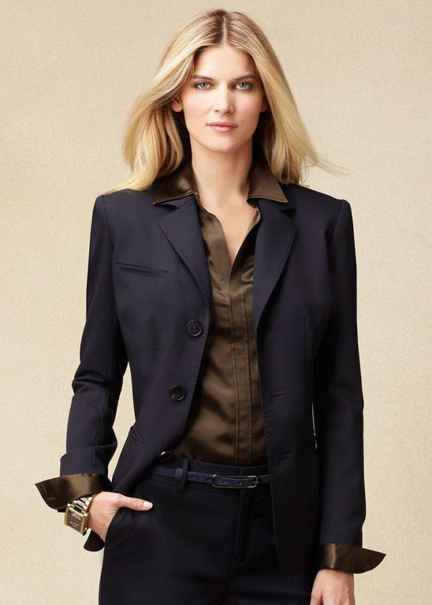 модные пиджаки 2019-2020 женские фото: черный классика