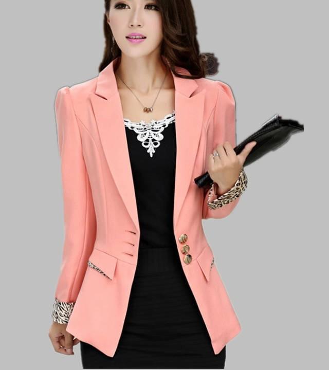 модные пиджаки 2019-2020 женские фото: персиковый три пуговицы
