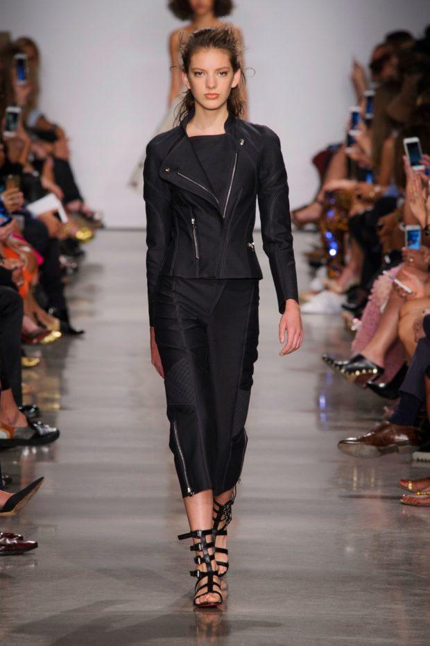 модные пиджаки 2019-2020 женские фото: короткий на змейке