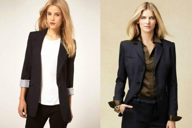 пиджаки женские модные в 2019-2020 году: классика черные