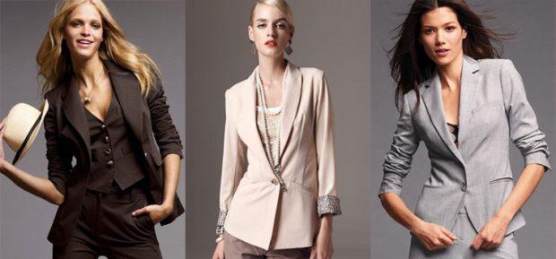 пиджаки женские модные в 2019-2020 году: классика коричневый бежевый серый