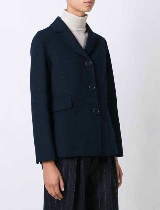 пиджаки женские модные в 2019-2020 году: классика теплый синий