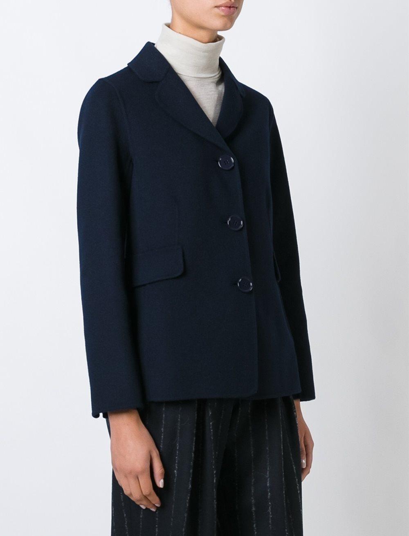 пиджаки женские модные в 2018 году: классика теплый синий