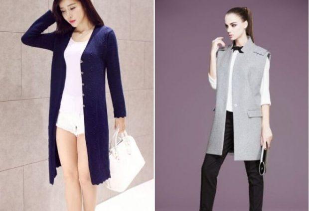 женский пиджак 2019-2020 года модные тенденции: длинный сиреневый серый без рукава