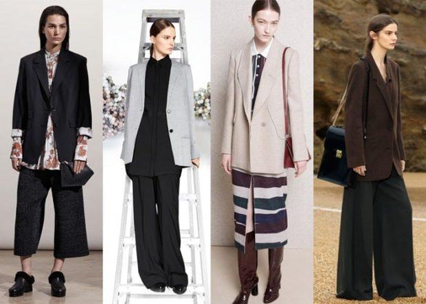 женский пиджак 2018 года модные тенденции: длинный черный серый бежевый коричневый