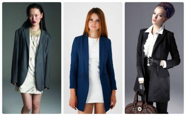 женский пиджак 2018 года модные тенденции: длинный серый синий черный