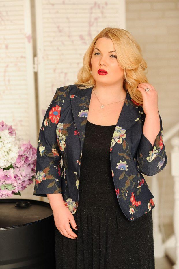 модные пиджаки 2020-2021 женские фото: в цветы короткий