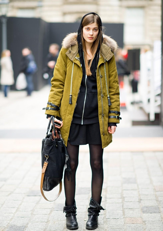 Зимние луки 2018 2019: куртка, оливковое