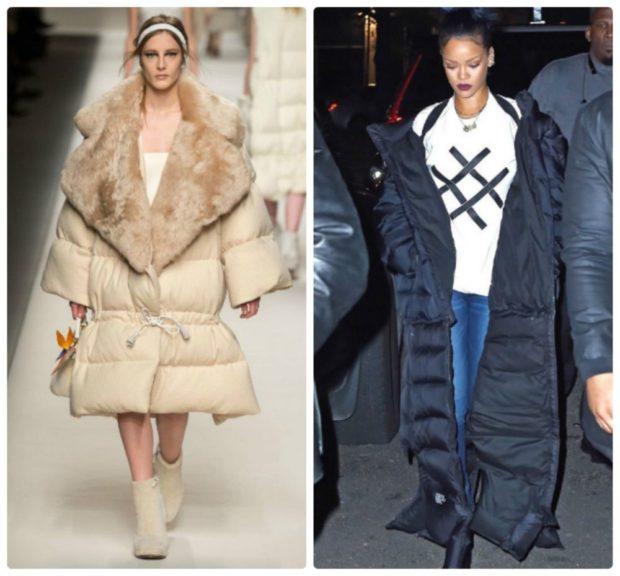 Зимние луки 2018-2019: куртка, бежевая и черная