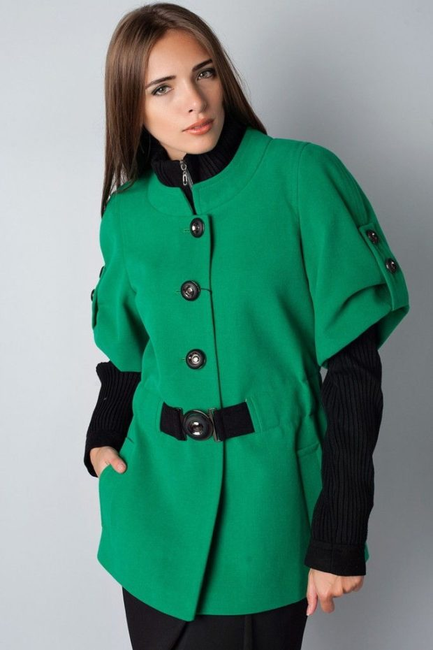 Зимние луки 2018-2019: пальто, зеленое
