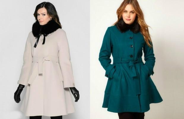 Зимние луки 2018-2019: пальто, белое и зеленое