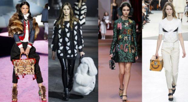 Зимние луки 2018-2019: черно белый свитер платье зеленое по колено брюки светлые