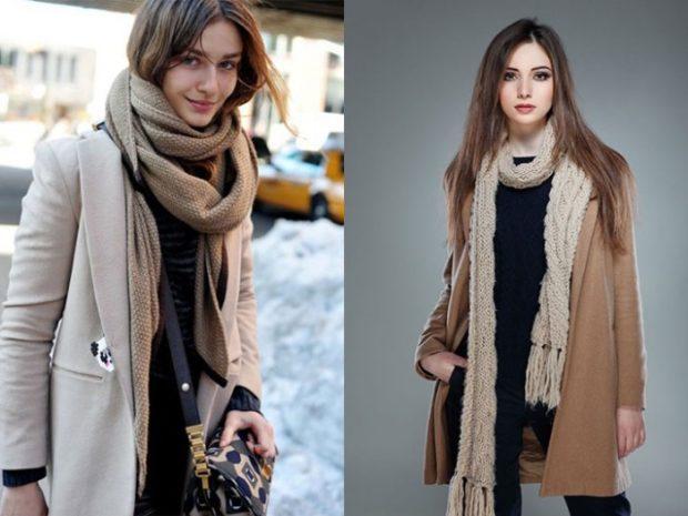 Зимние луки 2018-2019: пальто, коричневое и серое
