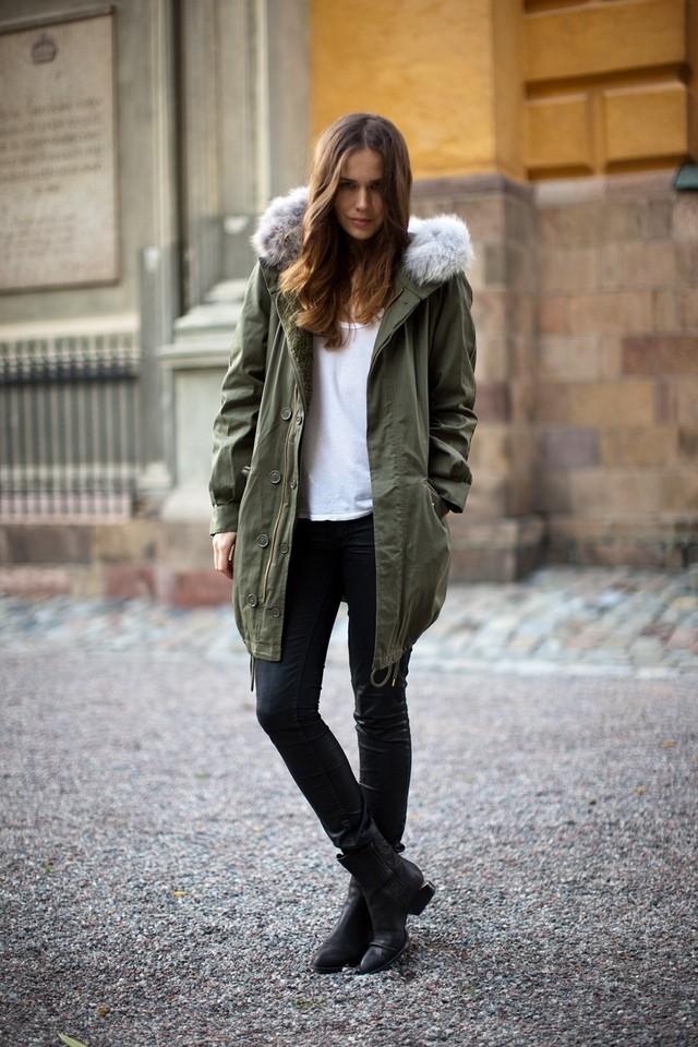 Зимние луки 2018 2019: куртка, зеленая