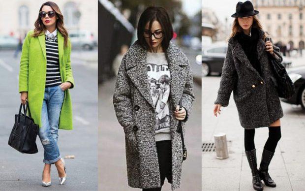 зимние луки 2020-2021: пальто салатовое серое серое оверсайз