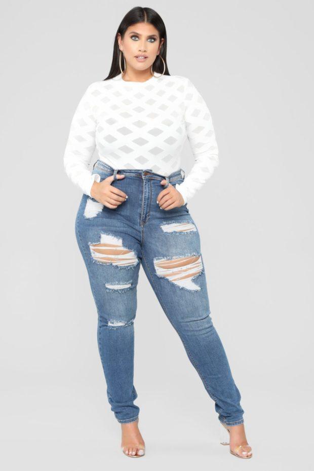 какие джинсы носить полным девушкам