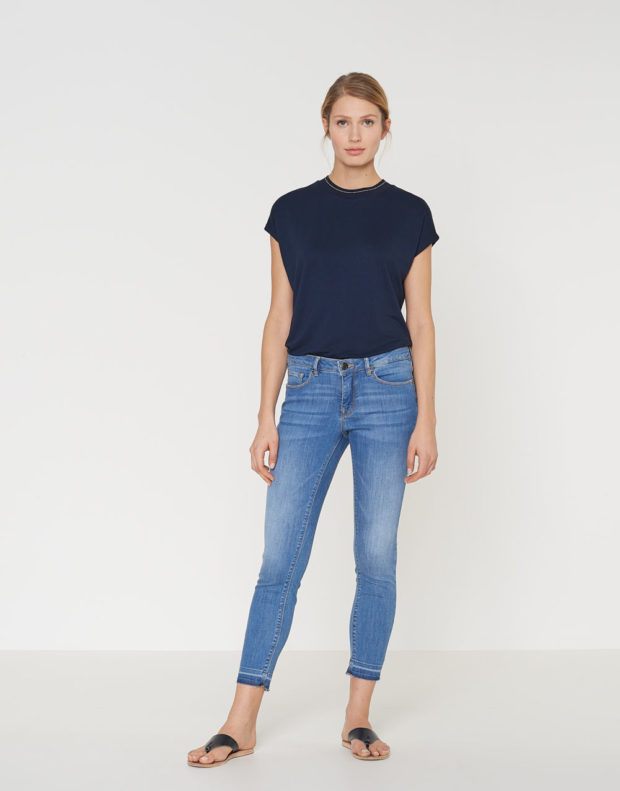 с чем носить джинсы 7 8